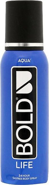 Bold Body Spray Life 120ml Aqua
