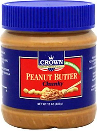 Crown Peanut Butter 340g Chunky