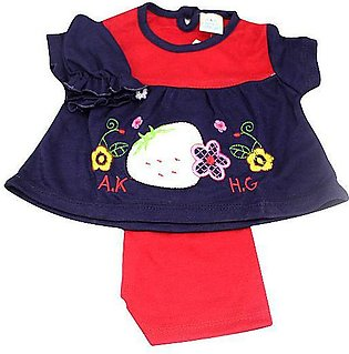 Baby 3pcs Suit (Straw Berry) For 0-3 Months