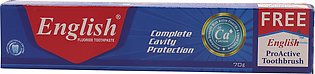 English ToothPaste Cavity Protection 70g Large