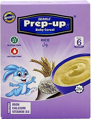 Searle Prep Up Baby Cereal Rice 175gm Box
