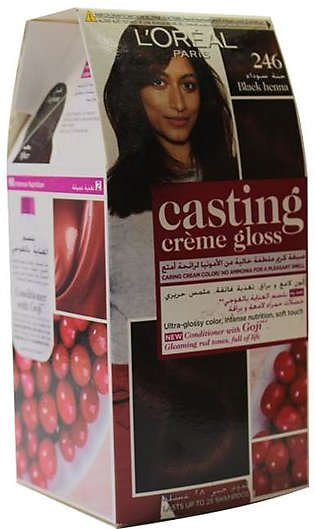 Loreal Casting Hair Color Black Henna # 246