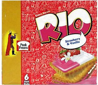 Peek Freans Rio Strawberry Vanilla H/R 1X6 Box