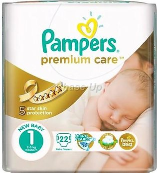 Pampers Premium Care Baby Diapers 1 New Born 22pcs