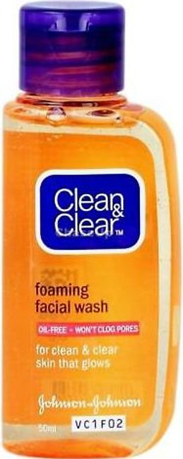 Clean & Clear Foaming Oil Free Face Wash 50ml