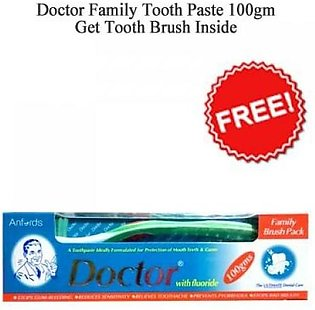 Doctor Family Tooth Paste Brush Pack 100gm
