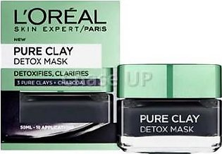 Loreal Pure Clay Charcoal Face Mask 50ml