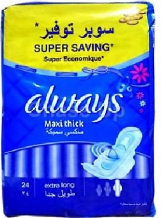 Always Maxi Thick Sanitary Pads XLong 28pcs