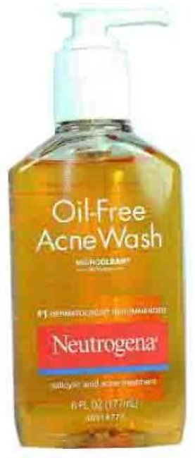 Neutrogena Oil Free Acne Face Wash (Yellow) 177ml