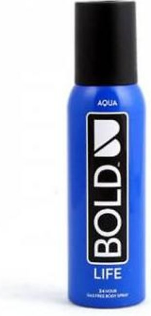 Bold Life Aqua Body Spray 120ml/100gm