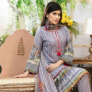 Amna Sohail Pure Decadence Embroidered Lawn 3 Piece Un-Stitched Suit - 4549 A