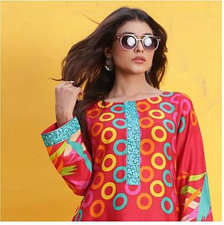 Chase Value Centre Printed Khaddar Un-Stitched Shirt - 4