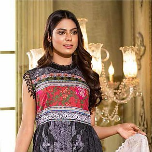 Noor Jahan Lawn Printed & Embroidered 3 Pcs Un-Stitched Suit - 3