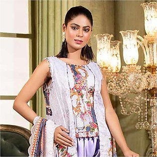 Noor Jahan Lawn Printed & Embroidered 3 Pcs Un-Stitched Suit - 6