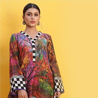 Chase Value Centre Printed Khaddar Un-Stitched Shirt - 8