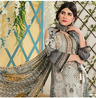 Amna Sohail Bold Summer Embroidered Lawn Suit - 4616 A