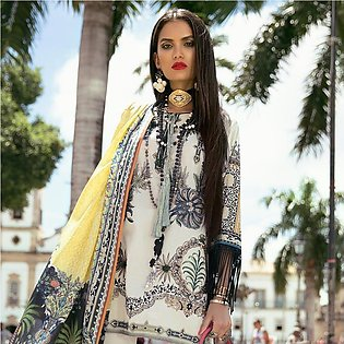 Elan Designer Embroidered Lawn Suit - 1A