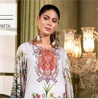 Noor Jahan Lawn Printed & Embroidered 3 Pcs Un-Stitched Suit - 8