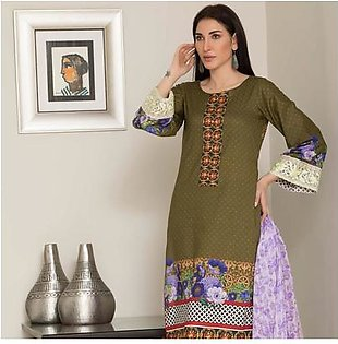Chase Value Centre Digital Printed Festive Lawn Suit - 07
