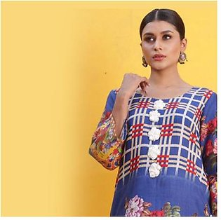 Chase Value Centre Printed Khaddar Un-Stitched Shirt - 6
