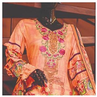 Chase Value Centre Embroidered Lawn Suit - 1B
