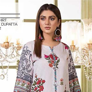 Noor Jahan Lawn Printed & Embroidered 3 Pcs Un-Stitched Suit - 13