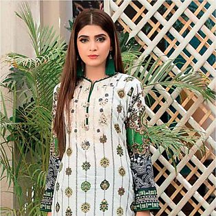 Amna Sohail Summer Galore Embroidered Lawn 3 Piece Un-Stitched Suit - 4458 A