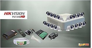 HIKVISION CCTV Cam Package 16 Cameras with 16 Channel