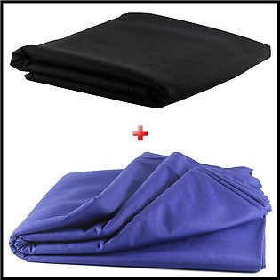 Pack of 2 Unstiched Wash & Wear Kurta - Black + Blue