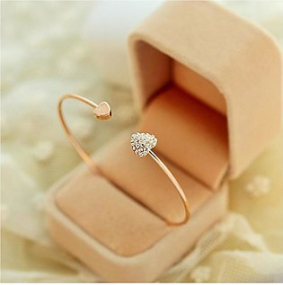Shopping Mania Heart Bow Bangle
