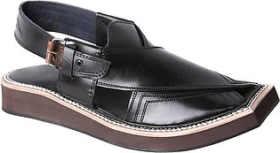 Kaptaan Chappal Black | 100% High Quality with Pure Leather