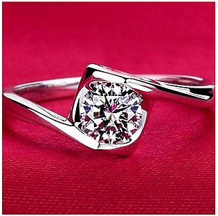 Shopping Mania White Gold Plated Royal Ring