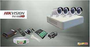 HIKVISION With CCTV 4 Camera