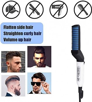 Beard Straightener Hair Comb, Man Electric Hair Styling Comb DIY Hair Accesso...