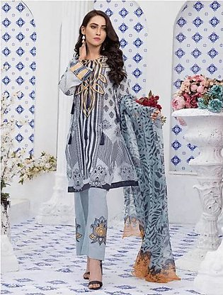 Khas Lawn Collection-Achromatic Muse Kc-5053
