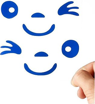 Blue Smiley Face 3D Decoration Sticker For Car Side Mirror Rear View Mirror Sti…