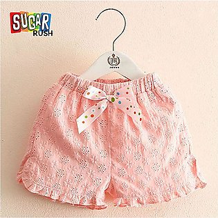 Pink SUGAR_RUSH Fashion Baby Girls and Toddlers Pink Lace Cotton with Ruffle an…