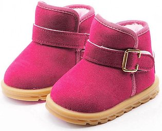 Rose Red Kids Fashion Casual Winter Thicken Non-slip Warm Snow Boots