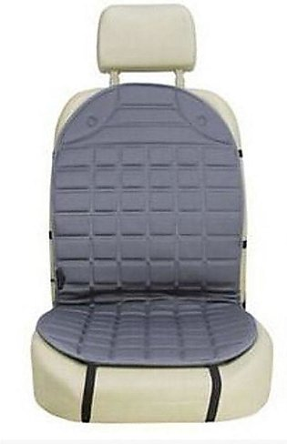 Gray 12V Car Heating Cushion Electric Heating Front Seat Cushion Cover Backrest