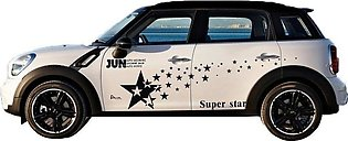 Black Car Stars Pattern Decal Waterproof Car Body Protection Decoration Stickers