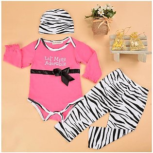 Red Baby Infant Children Girls 3pcs Clothes Set Long Sleeve Romper and Pants an…