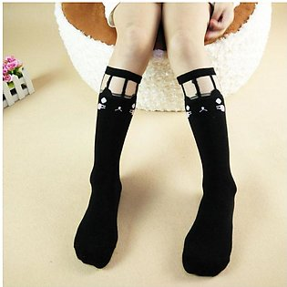 White shy Cat 2019 new children's tube socks girls socks wholesale Korean versi…