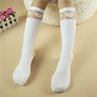 White Love 2019 new children's tube socks girls socks wholesale Korean version …