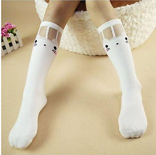 Black Shy Cat 2019 new children's tube socks girls socks wholesale Korean versi…