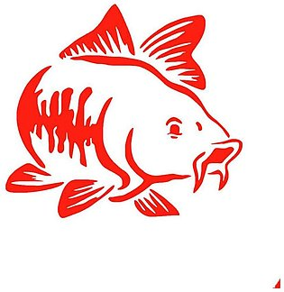 Red Carp Fish Window Stickers Reflective Personality Car Styling Decoration Acc…