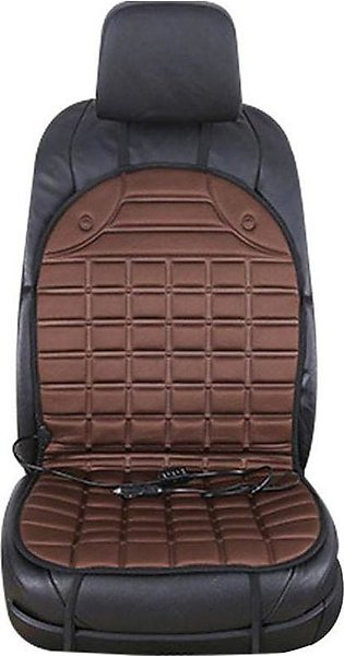 Coffee 12V Car Heating Cushion Electric Heating Front Seat Cushion Cover Backre…