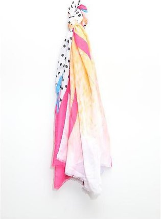 Woven Scarf with Multi Color Pattern