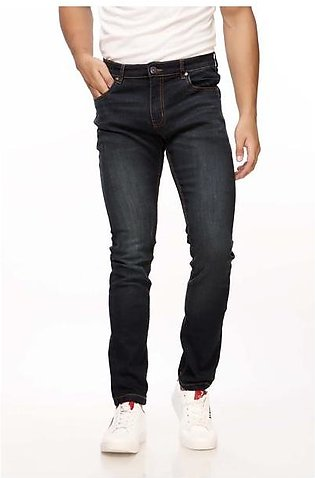 Faded Jeans With Tobacco Stitching