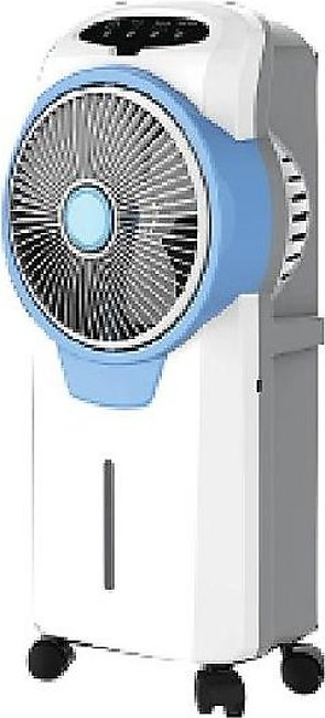 Geepas GAC 9580 - Rechargeable Portable Air cooler - White & Blue (Brand Warran…