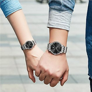 Man Woman Gift Watch Lovers Waterproof Watches Couples Movement Stainless Wri...